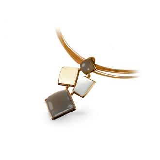 Collar Eclectic en Oro con Piedras Luna. Joyerías Barcelona