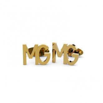 Gemelos Personalizados con 2 Iniciales en Oro. Joyerías Barcelona