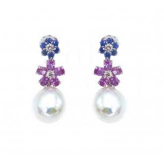 Pendientes Perlas floral. Joieries Barcelona