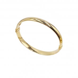 Polsera esclava en or amb turmalines i diamants. Joieries Barcelona