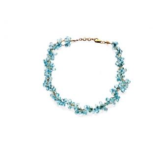 Collar Articulat en Or amb topazis blaus. Joieries Barcelona