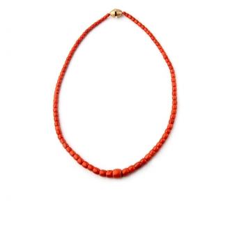 Collaret Vintage de coral, amb tanca d'or. Joieries Barcelona