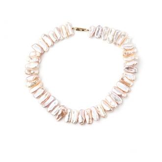Collaret de perles Keishi Dent de Lleó, tanca d'or. Joieries Barcelona