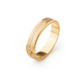 Pulsera modelo grune en oro y diamantes. Joieries Barcelona
